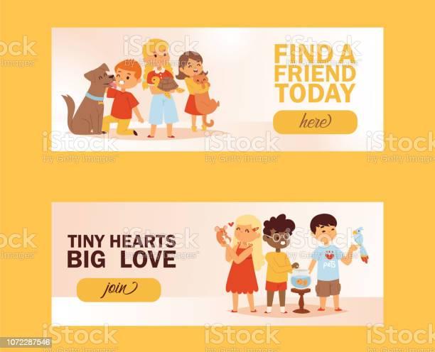 Children with pets friendship banner vector illustration love child vector id1072287546?b=1&k=6&m=1072287546&s=612x612&h=uxmtfgmn yu8p0or0hptd7emadlj0c vk08jwqqifik=