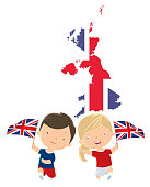 istock Children with United Kingdom flags 940720538