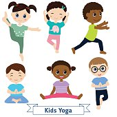 Little Girl Doing Yoga Children