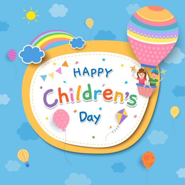 ilustrações, clipart, desenhos animados e ícones de balão infantil - dia das crianças