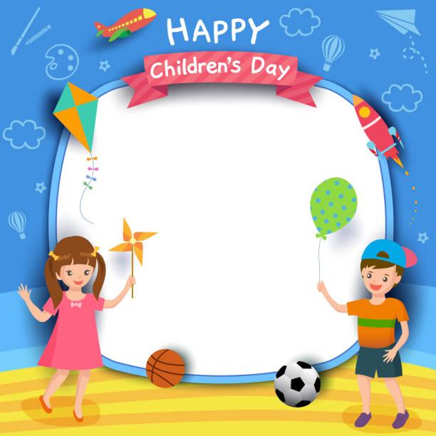ilustrações, clipart, desenhos animados e ícones de crianças-dia-menino-menina - dia das crianças