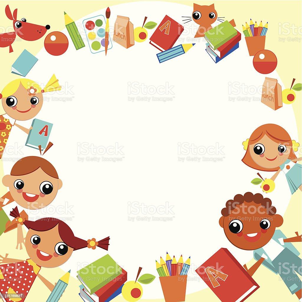 children's background royalty-free stock vector art