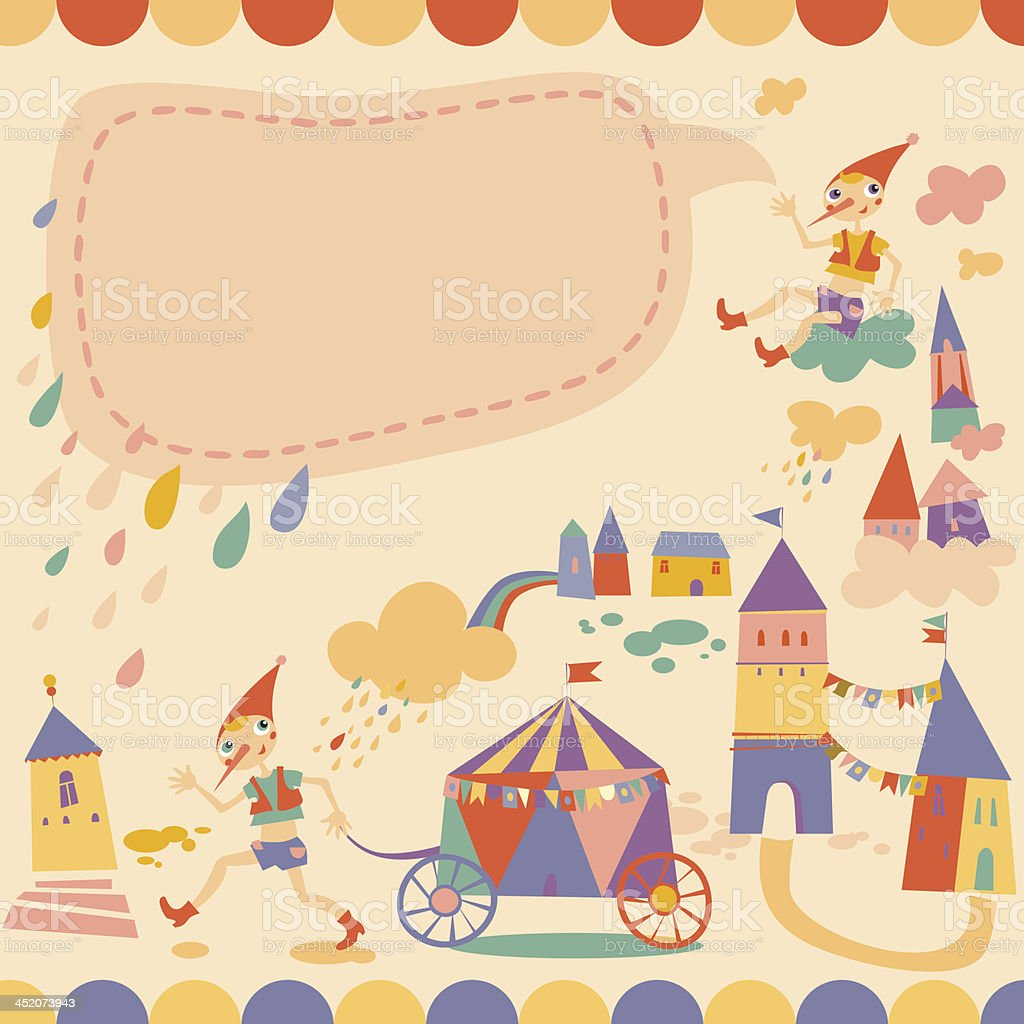 Children's background with place for text vector art illustration