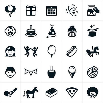 Children's Birthday Party Icons