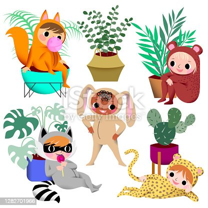 istock children's carnival, impromptu jungle of indoor plants. 1282701966