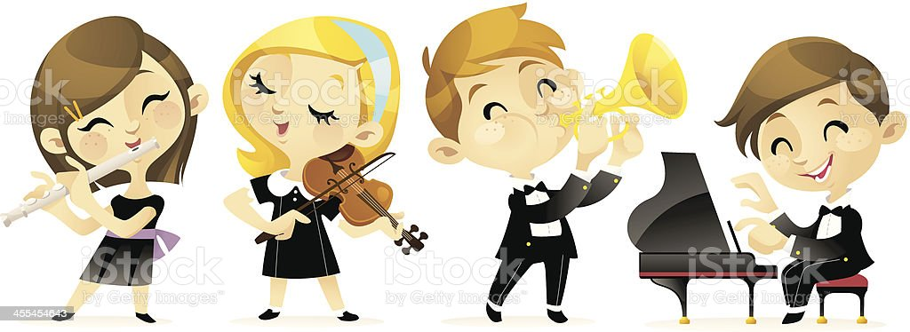 Children's Classical Concert vector art illustration