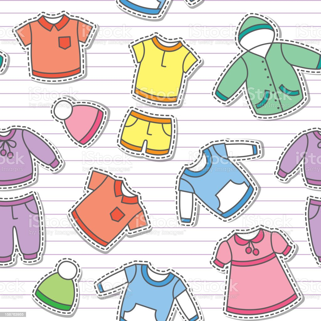 children's clothes, vector eps 10 royalty-free stock vector art