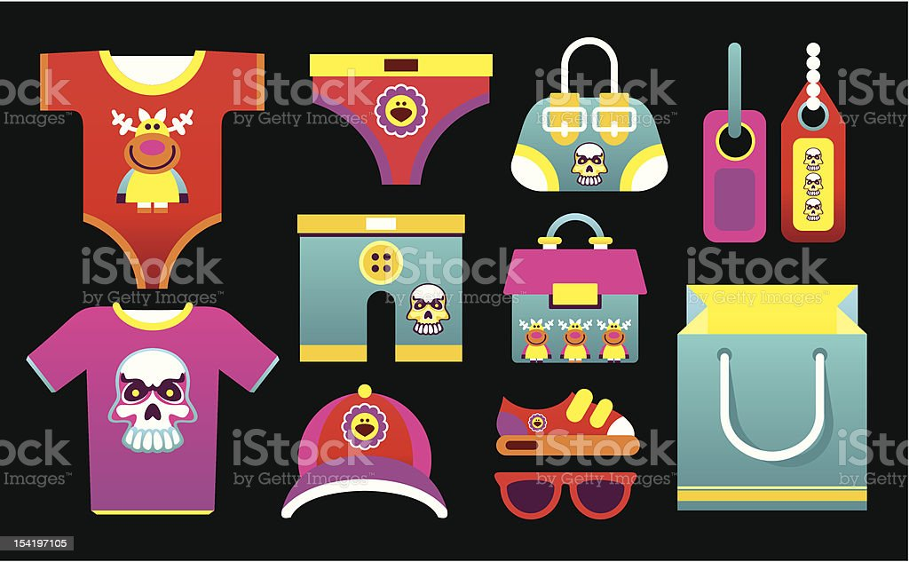 Children's Clothing royalty-free childrens clothing stock vector art & more images of animal