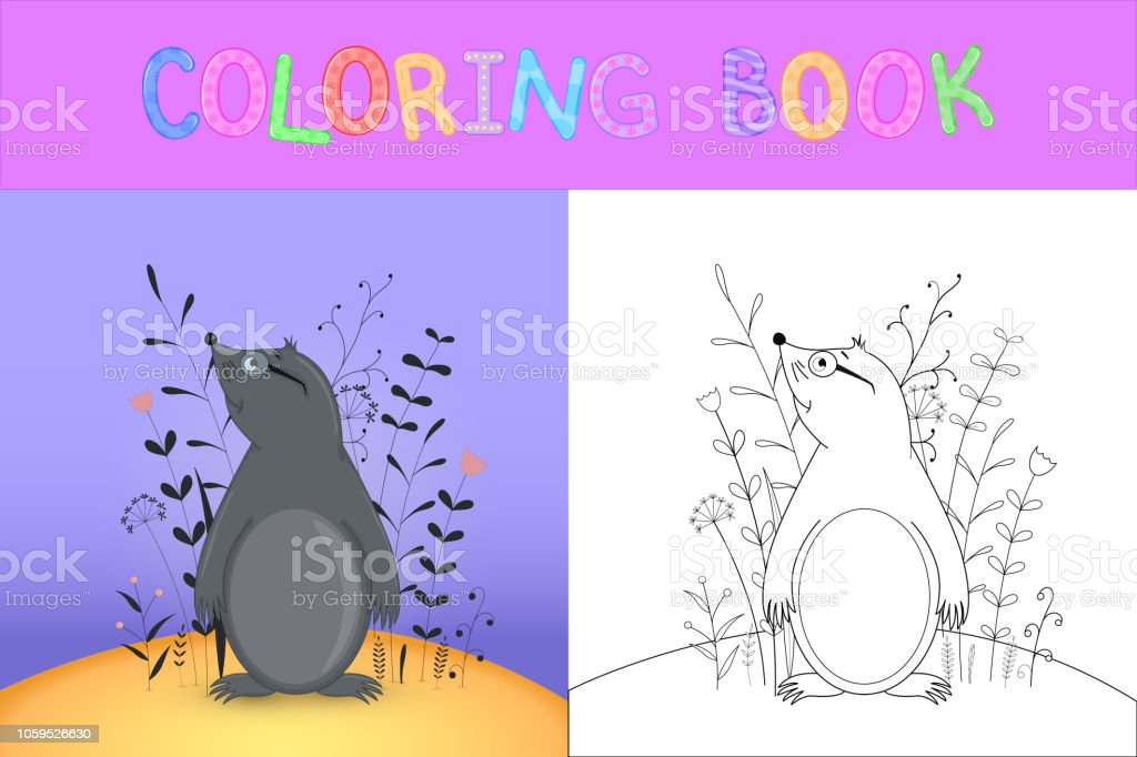çocuk Boyama Kitabı Karikatür Hayvanlar Ile Okul öncesi çocuk şirin