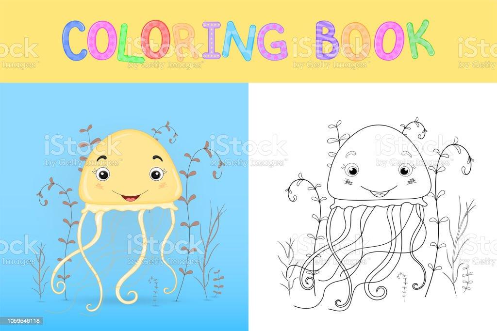 çocuk Boyama Kitabı Karikatür Hayvanlar Ile Okul öncesi çocuklar