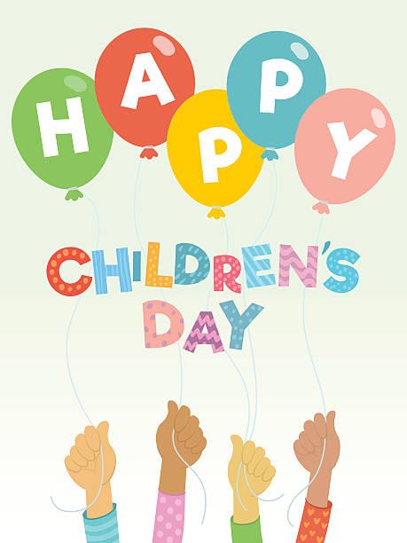 stockillustraties, clipart, cartoons en iconen met children's day greeting card - kinderdag