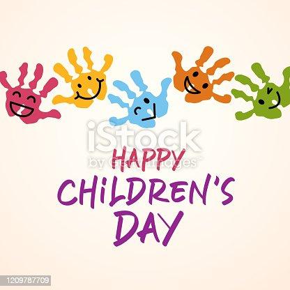 istock Children's Day Handprints 1209787709