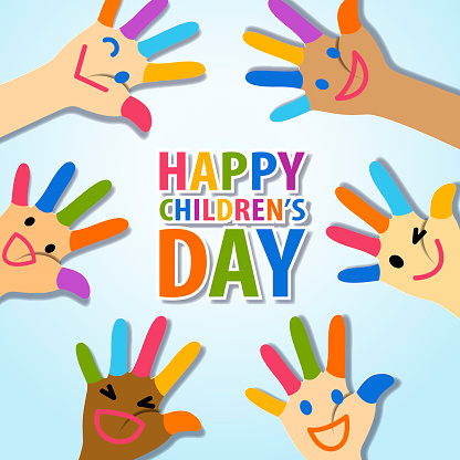 Children's Day Painted Fingers
