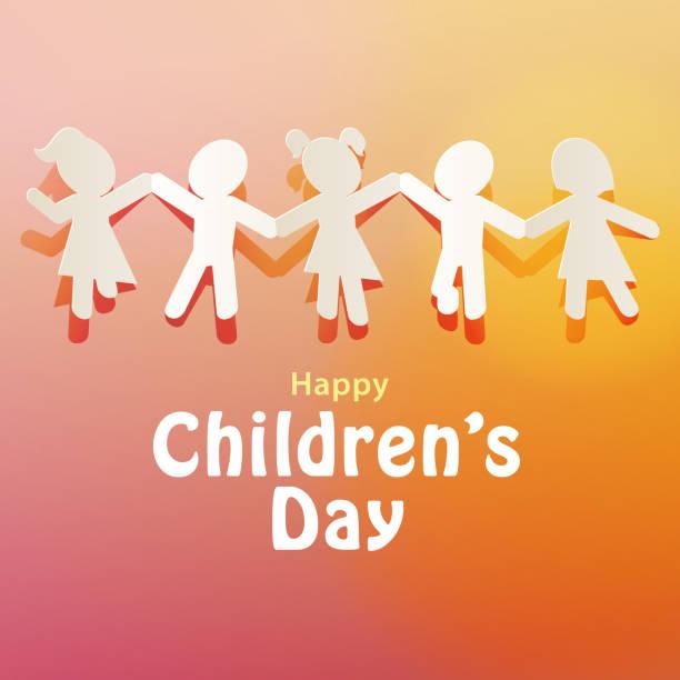 stockillustraties, clipart, cartoons en iconen met kinderboekenketen - kinderdag