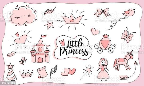 Childrens drawings little princess set of doodle illustration hand vector id913197156?b=1&k=6&m=913197156&s=612x612&h=frdkxvvuicj1apx5kz89zk6ipwwv8z2phrxoij6p6qi=