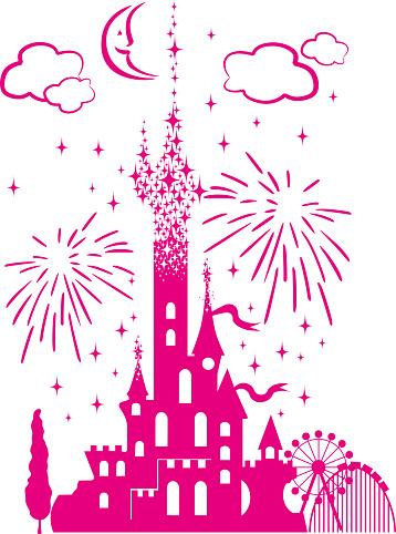 childrens fairytale entertainment castle icon