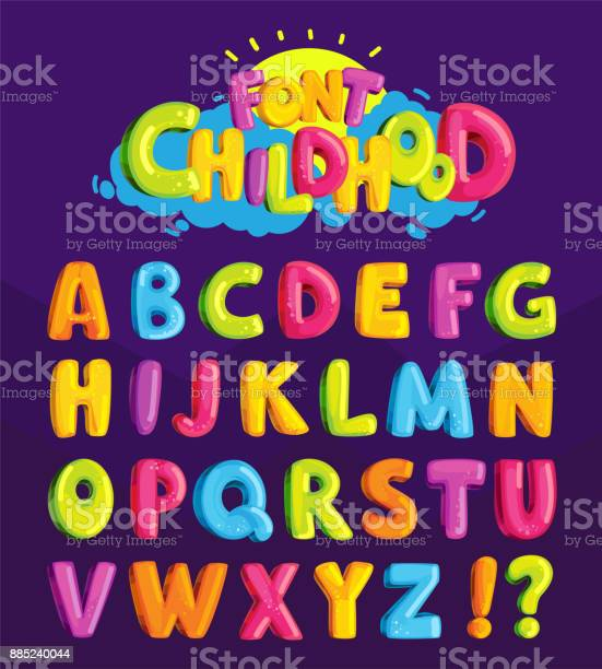 Childrens font in the cartoon style of childhood vector id885240044?b=1&k=6&m=885240044&s=612x612&h=h1nmxznhj0zwejvoyvwa1q9xfovx6ntkie3yeceej5i=