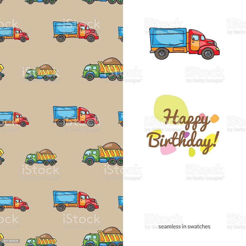Дети's поздравительных открыток векторная иллюстрация