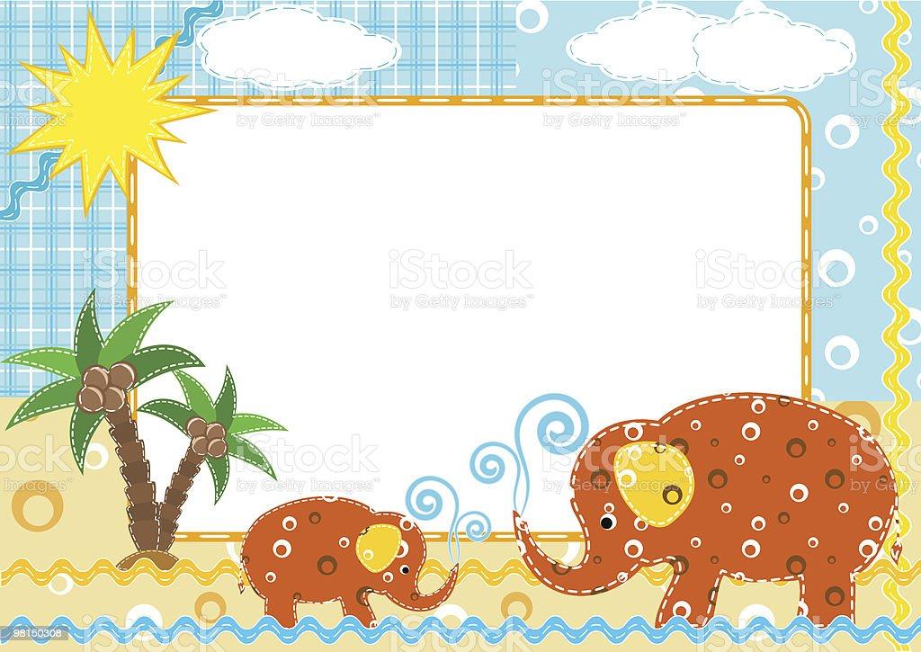 Bambini foto di Schema. Elefante. bambini foto di schema elefante - immagini vettoriali stock e altre immagini di albero royalty-free
