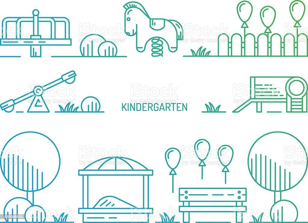 Patio De Juegos Para Niños Jardines De Infancia Jugando ...