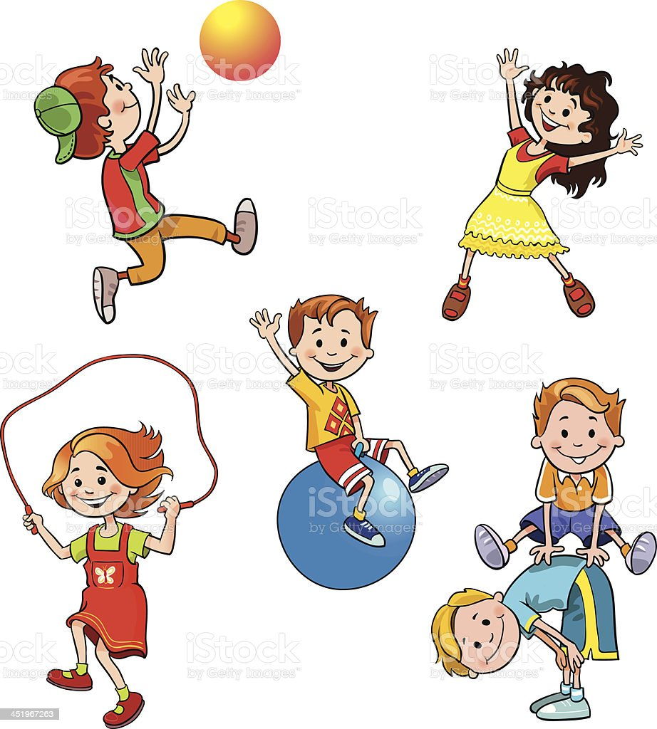 Children's Playing Collection vector art illustration
