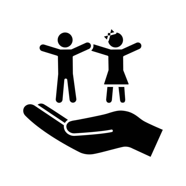 子どもの権利グリフアイコン - 保育点のイラスト素材/クリップアート素材/マンガ素材/アイコン素材