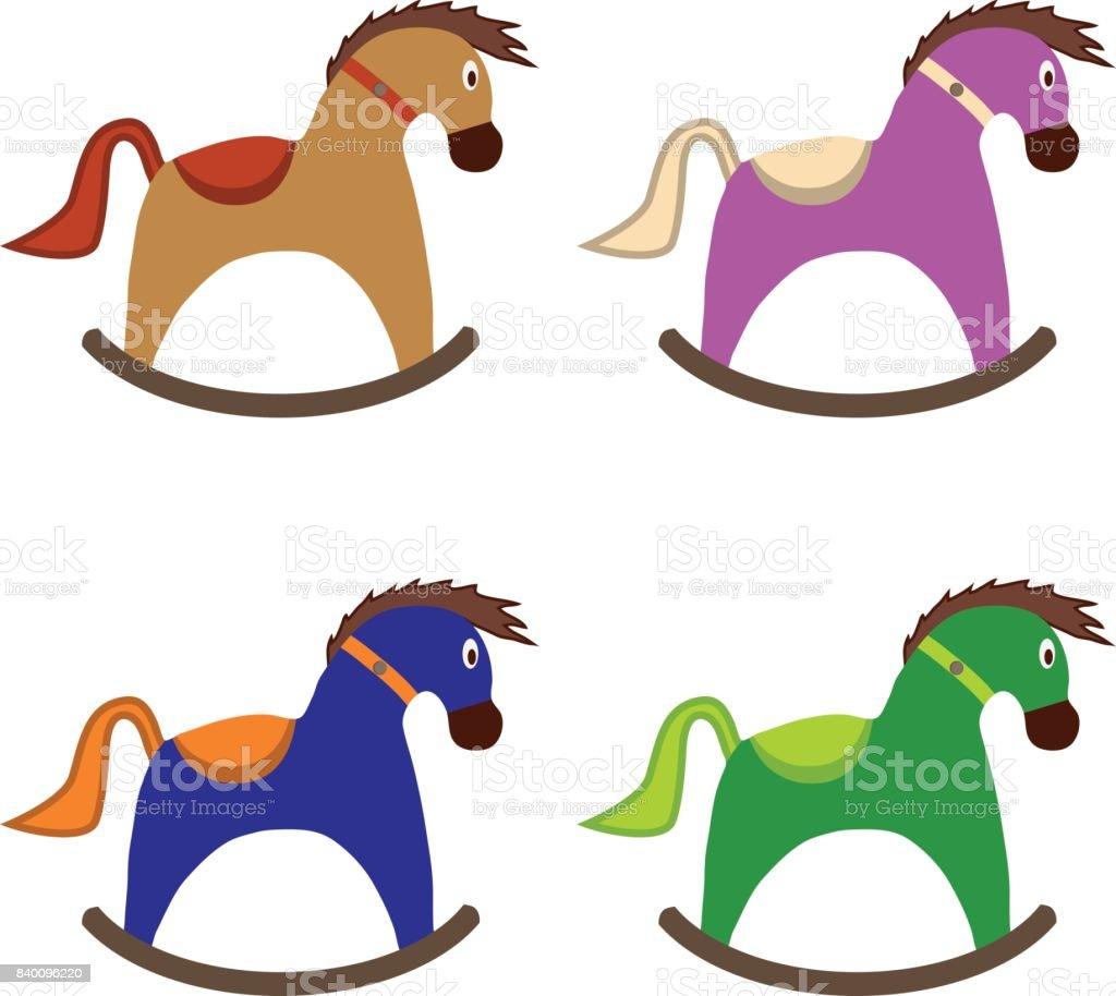 Childrens Rocking Horse Childrens Toy Stock Illustration Download Image Now Istock