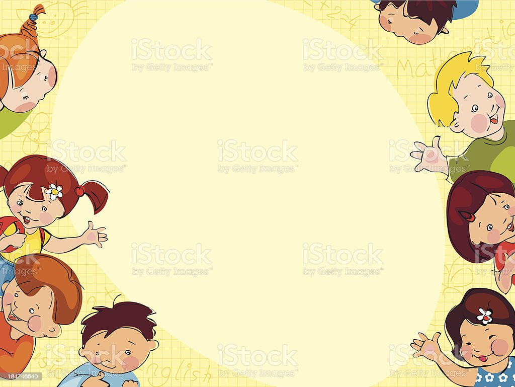 Children Reading Stock Vector Art More Images Of Baby: Childrens School Background Stock Vector Art & More Images