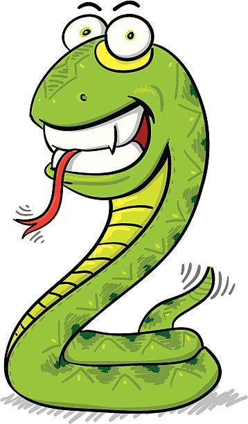 Childrens Series V -Snake- vector art illustration