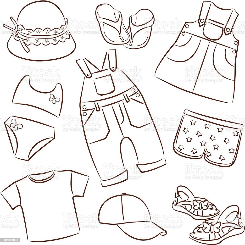 Summer Clothing Coloring Pictures