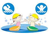Children's swimming school image