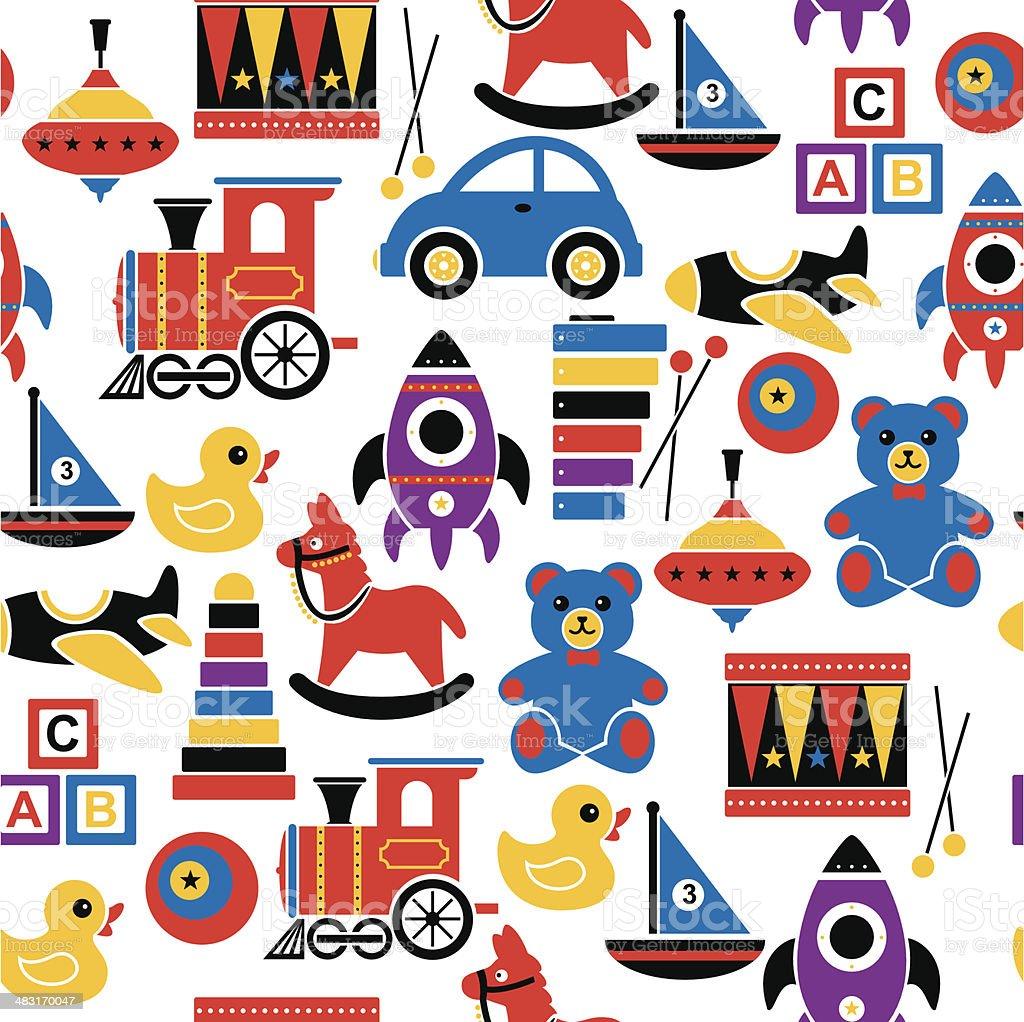 Padrão de brinquedos para crianças - ilustração de arte em vetor