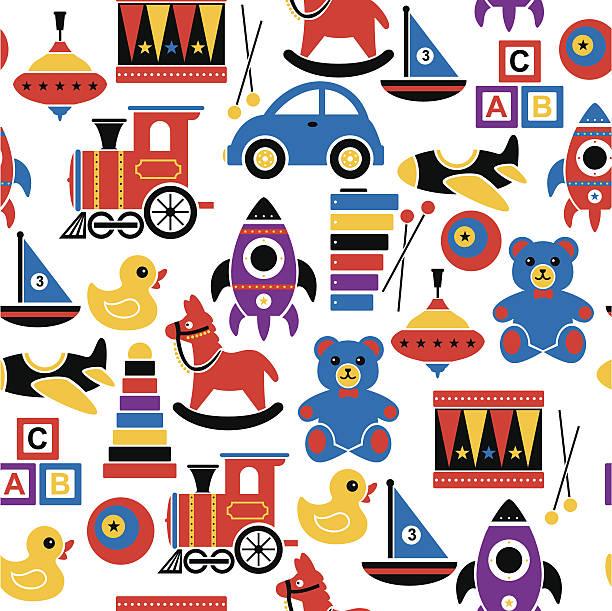 Children's Toy Pattern vector art illustration