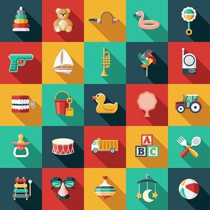 Children's Toys Icon Set