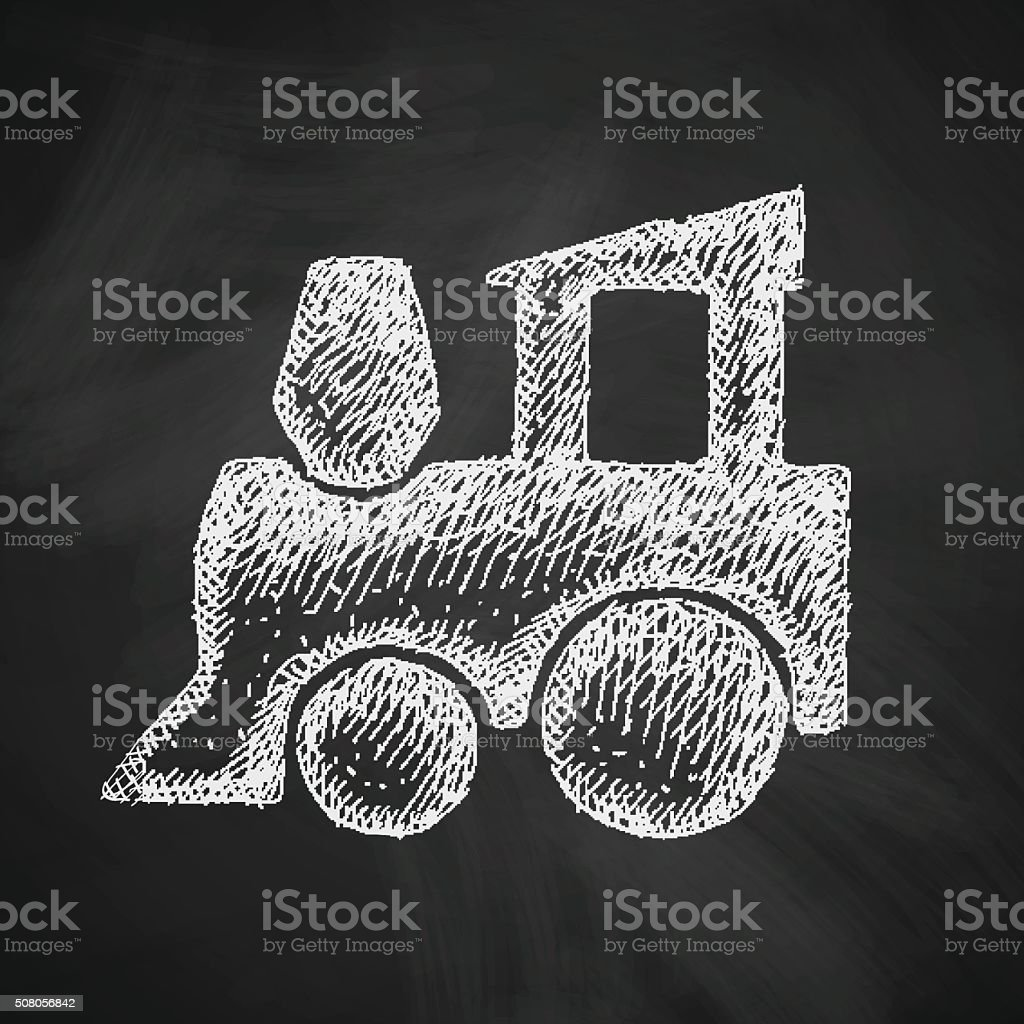childrens train icon vector art illustration