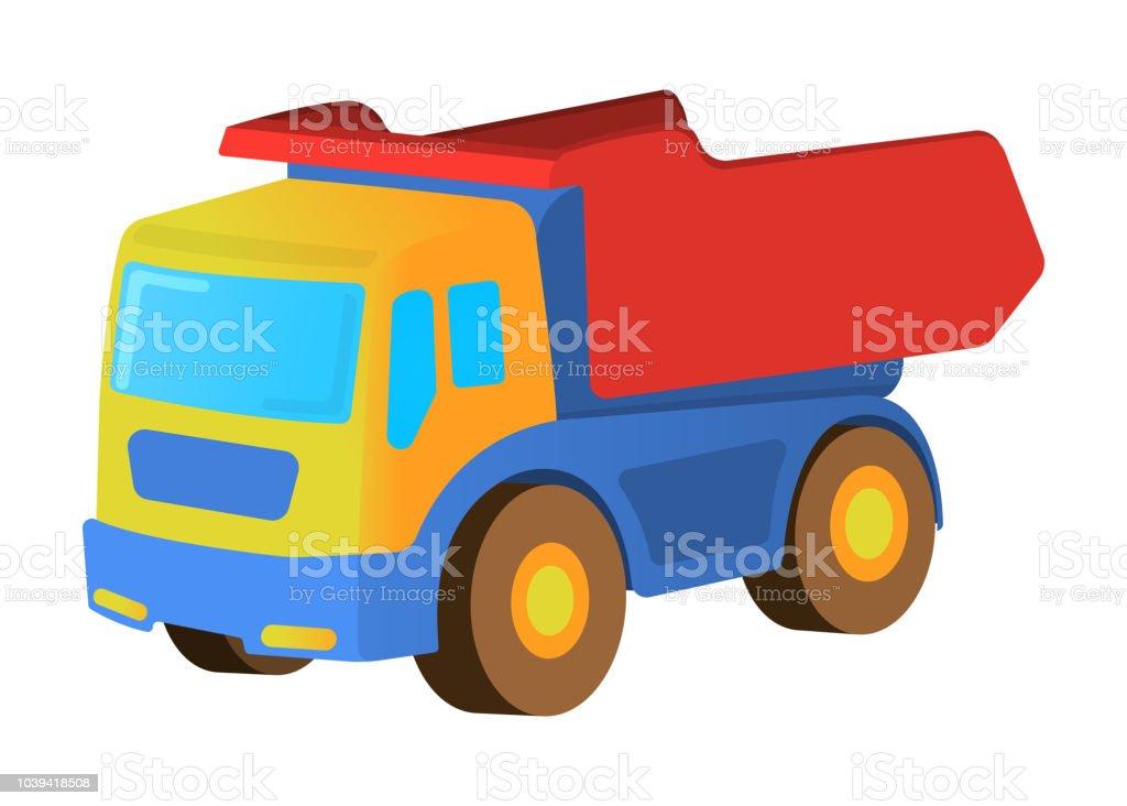 Ilustracion De Icono Para Ninos Carro Juguete Aislado Estilo De