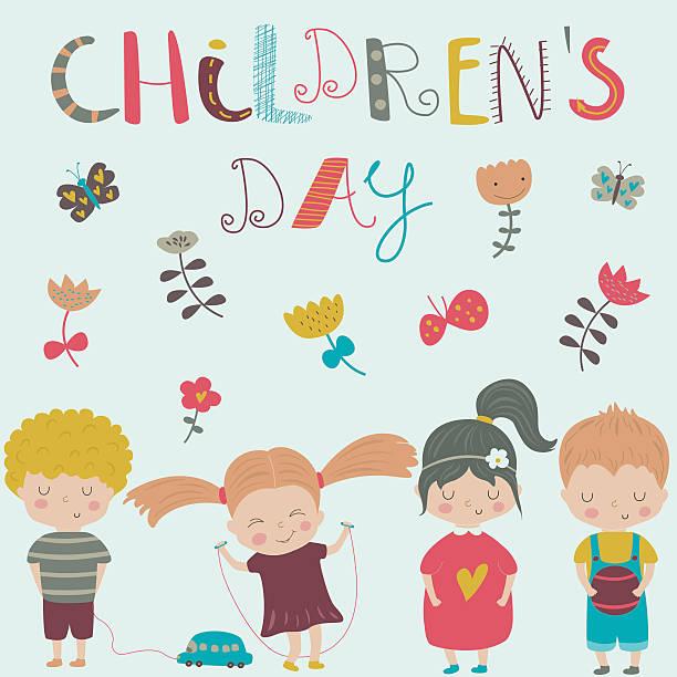 stockillustraties, clipart, cartoons en iconen met childrensday - kinderdag