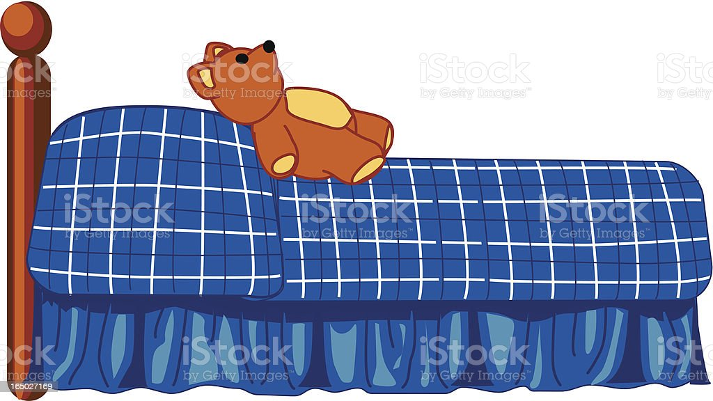Child's Bed Vector Illustration royalty-free stock vector art