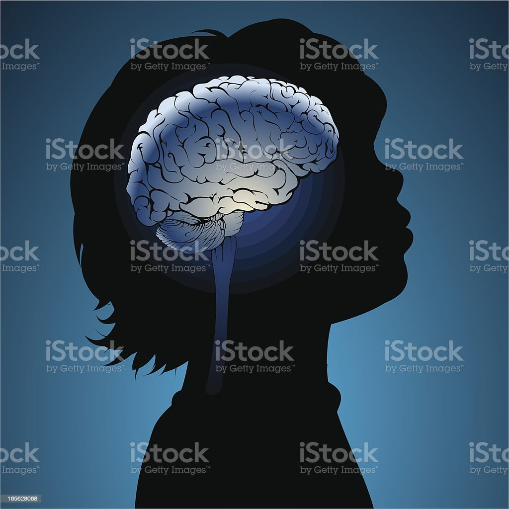 Childs brains vector art illustration