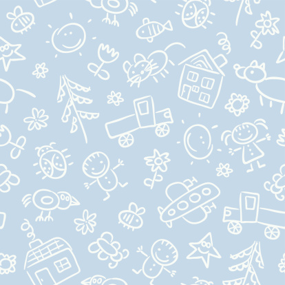Child's drawing pattern