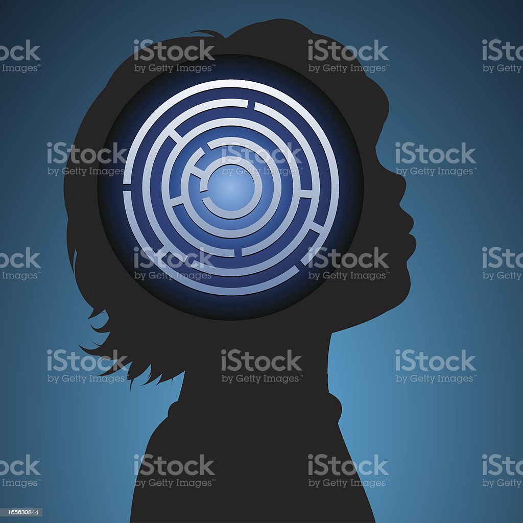 Childs mind vector art illustration