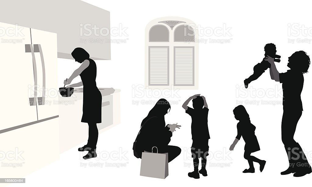 Child's Play Vector Silhouette royalty-free stock vector art