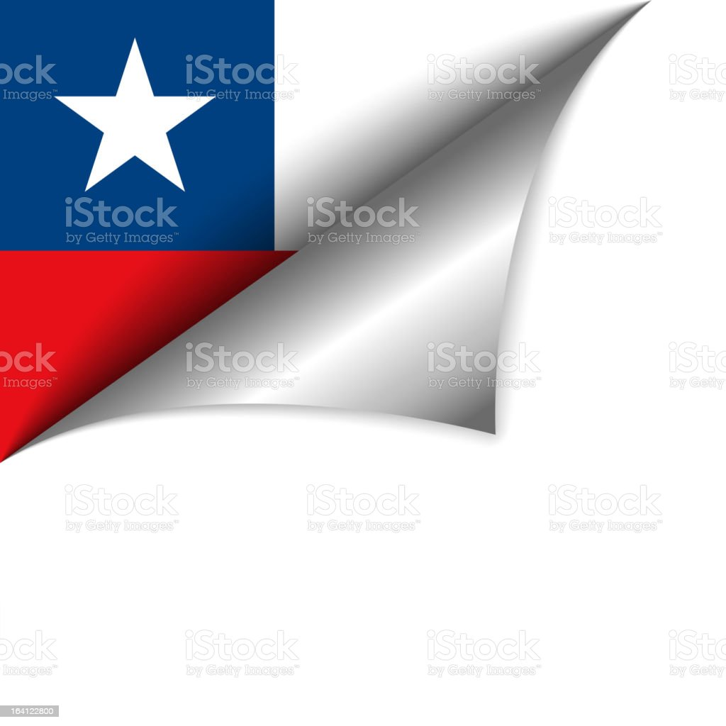 Chile Country Flag Turning Page vector art illustration