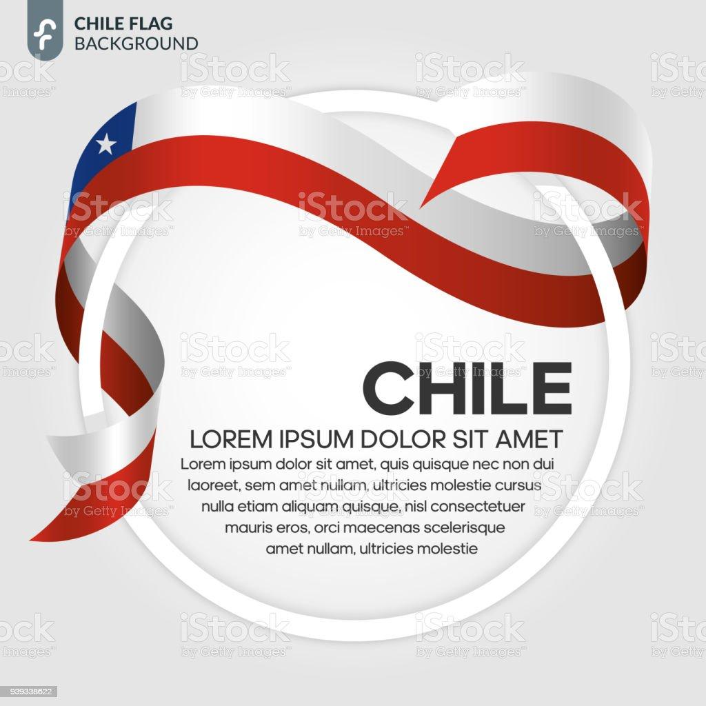 チリ国旗の背景 ベクターアートイラスト