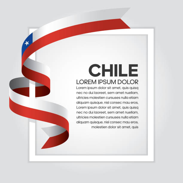 chile flag background - chile flag stock illustrations, clip art, cartoons, & icons