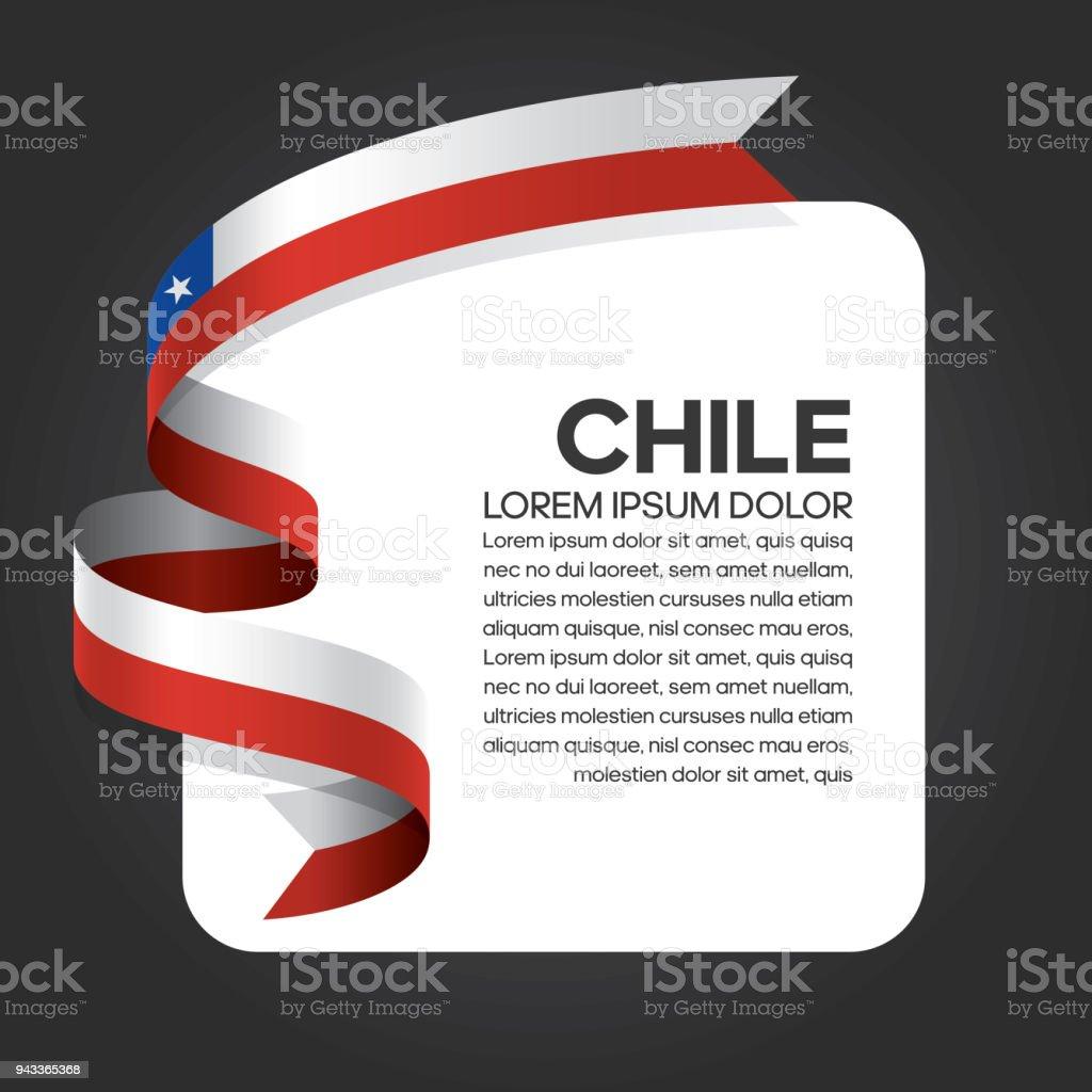 Chile flag background vector art illustration