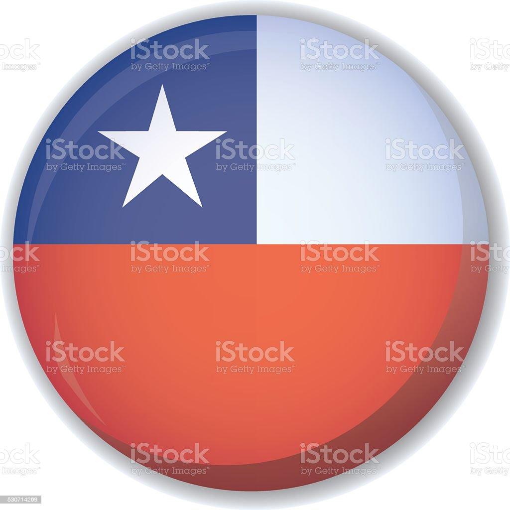 Chile bandera, botón vector - ilustración de arte vectorial