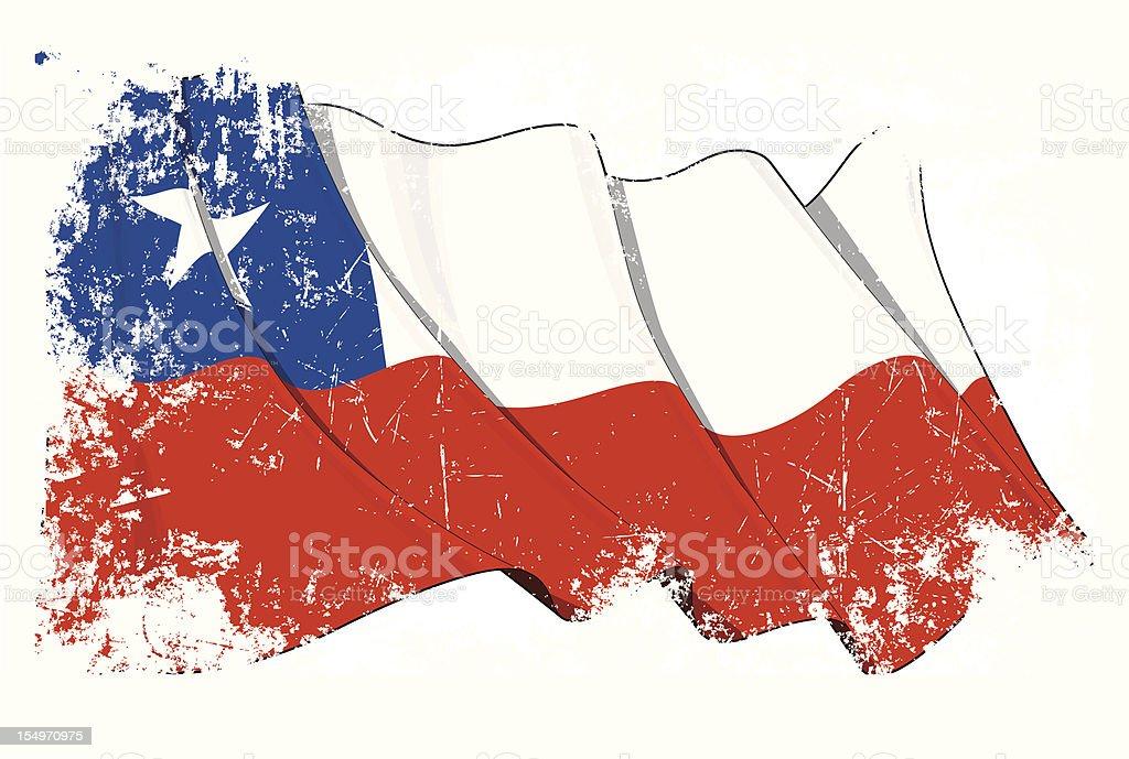 Bandera de Grunge de Chile - ilustración de arte vectorial