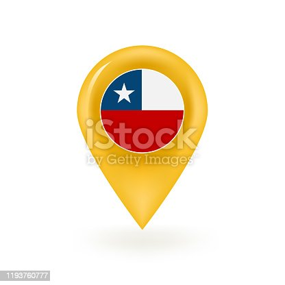 istock Chile Flag Map Pin Icon 1193760777