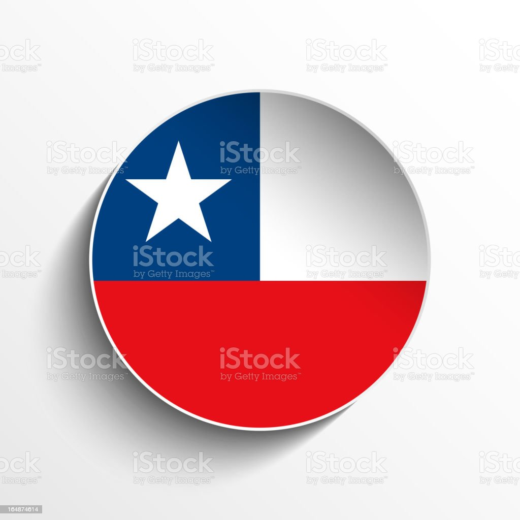 Chile Flag Sticker Button royalty-free stock vector art